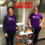 Board Members Emily Craigie and Anna David staff the Full Heart Food Cart at OHSU
